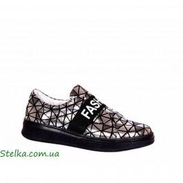 Серебряные туфли Tobi для девочек