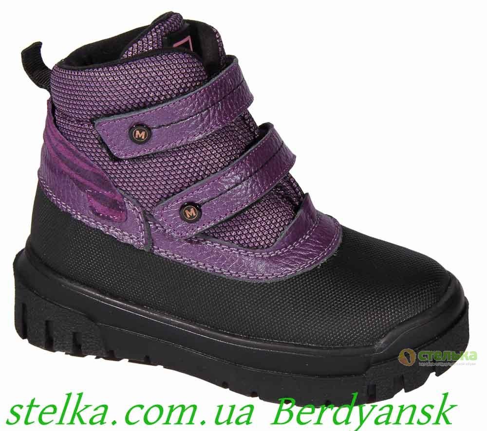 Детские зимние термоботинки для девочек, обувь Minimen, 6721-1