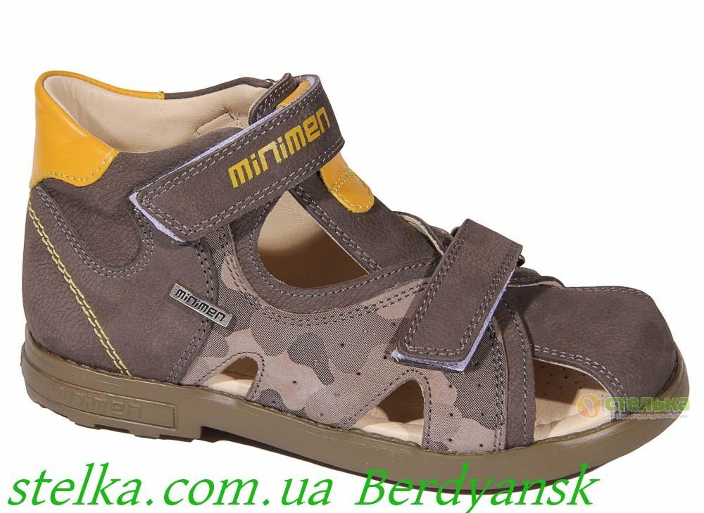 Детские ортопедические босоножки для мальчика, обувь Minimen, 6882-1