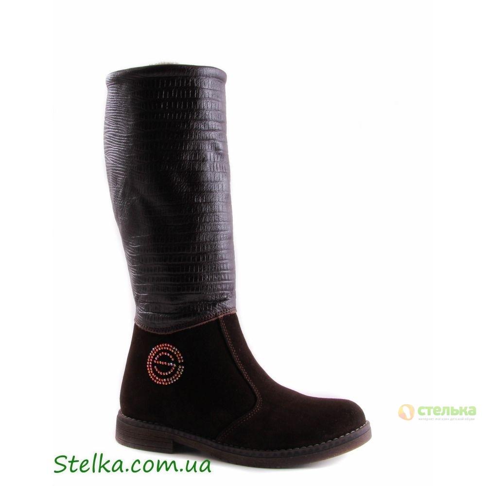 Замшевые зимние сапоги для девочки, брендовая обувь Constanta, 5670-1
