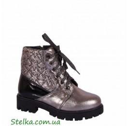 Кожаные зимние ботинки для девочки, обувь Alexandro, 6034-1