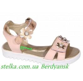 Детские кожаные босоножки для девочек, ТМ Alexandro, 6891-1