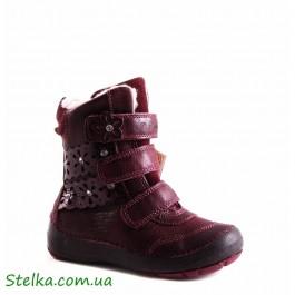 Кожаные зимние ботинки на девочку, купить детскую обувь D.D.Step, 5622-1