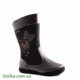 Детские кожаные зимние сапоги, обувь D.D.Step, 5640-1