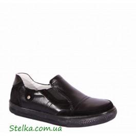 Кожаные туфли для мальчика, школьная обувь, Tobi 5914-1