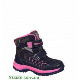 Террмо обувь на девочку, зимние ботинки B&G termo, 5989-1
