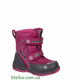 Ботинки детские зимние на девочку, обувь B&G termo, 5992-1