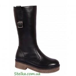 Кожаные зимние сапоги для девочки, обувь Lapsi, 6033-1