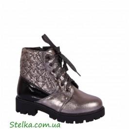 Кожаные зимние ботинки для подростка девочки, обувь Alexandro, 6034-1