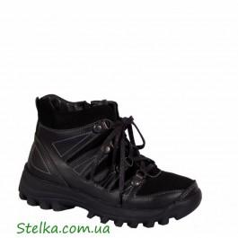 Обувь зимняя для мальчика, кожаные ботинки Tobi, 6044-1