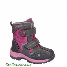 Детская зимняя обувь для девочки, ботинки B&G - termo, 6048-1