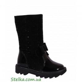 Кожаные зимние сапоги для девочек, детская обувь Foletti, 6059-1