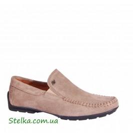 Бежевые мокасины Alexandro, подростковая обувь для мальчика, 6174-1