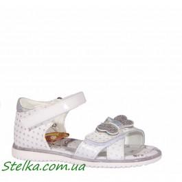 Белые босоножки на девочку, обувь Сказка Распродажа, 6203-1