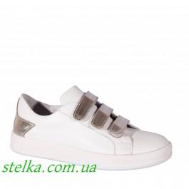Белые кожаные туфли Lapsi 6257-1 Ukraine