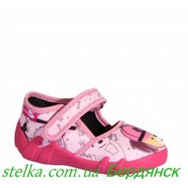 Ren But - Текстильные тапочки для девочек Poland 6281-1