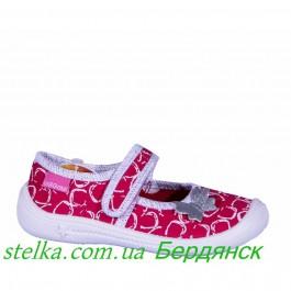 Текстильные мокасины для девочки, обувь Viggami, Poland 6302-1