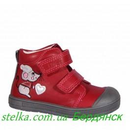 Детские осенние ботинки для девочки, кожаная обувь Ponte 20 Hungary 6314-1