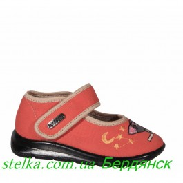 Детская обувь для садика, текстильные тапочки для девочки, Belsta 6340-1