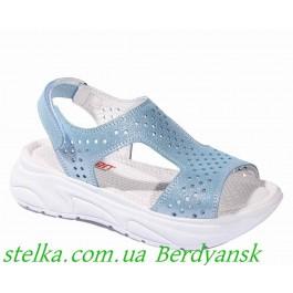 Брендовая детская обувь, босоножки на высокой подошве для девочек, ТМ MINIMEN, 6419-1