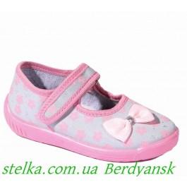 Польские текстильные тапочки для садика, детская обувь Raweks, 6450-1