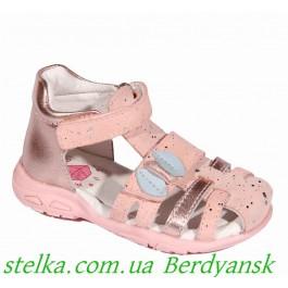 Детские кожаные босоножки для малышей, обувь для девочек D.D.Step, 6478-1