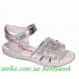 Кожаные босоножки для девочки Led - подсветка, детская венгерская обувь D.D.step, 6480-1