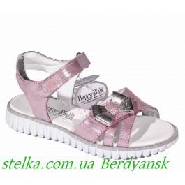 Детская обувь Турция, кожаные босоножки на девочку, ТМ Happy Walk, 6481-1