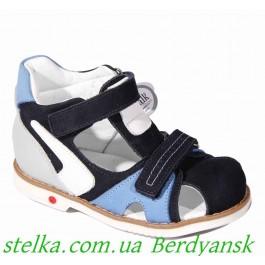 Ортопедические босоножки для мальчика, детская обувь Happy Walk (Турция), 6482-1
