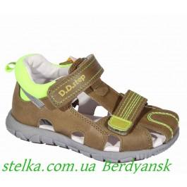 Кожаные сандалии для мальчика, детская обувь Венгрия, ТМ DDStep, 6498-1