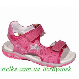 Кожаные босоножки для девочки, детская обувь DDStep (Венгрия), 6499-1