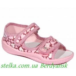 Детские текстильные босоножки на девочку, польская обувь Viggami, 6524-1