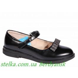 Черные туфли для девочек в школу, ТМ Weestep, 6543-1