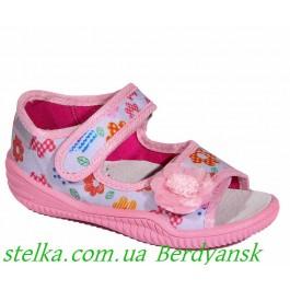 Польские текстильные тапочки на девочку, обувь Viggami, 6547-1
