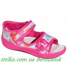 Детские босоножки для девочки, текстильная обувь Viggami, 6548-1