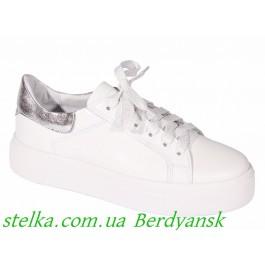 Белые туфли на платформе для девушки, кожаная обувь Tobi, 6573-1