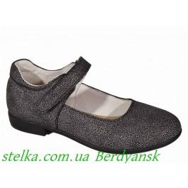 Школьные туфли девочкам, кожаная обувь Alexandro, 6572-1