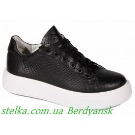 Обувь подростковая для девочек, кожаные кеды на платформе Maxus, 6608-1