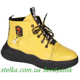Подростковая обуь для девочек, осенние ботинки Maxus, 6629-1