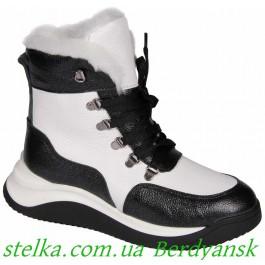Кожаные зимние ботинки для девушки подростка, ТМ Maxus, 6689-1