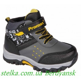 Детские демисезонные ботинки для мальчика, ТМ Promax, 6704-1