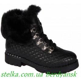 Зимние ботинки для девочек, кожаная обувь Lapsi, 6707-1