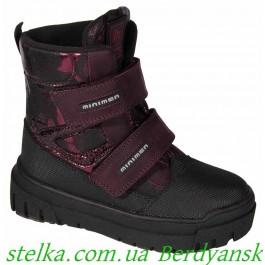 Зимние ботинки на девочку, термо обувь Minimen, 6718-1