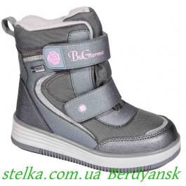 Детские зимние ботинки для девочек, обувь B&G termo, 6733-1