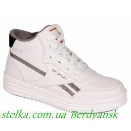 Белые хайтопы для девочек, демисезонная обувь Weestep, 6754-1
