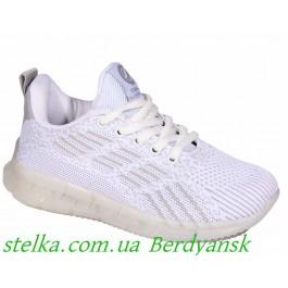 Текстильные белые кроссовки для девочки, ТМ Clibee, 6769-1