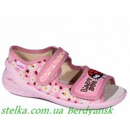 Текстильные босоножки в садик, детская обувь Waldi, 6785-1