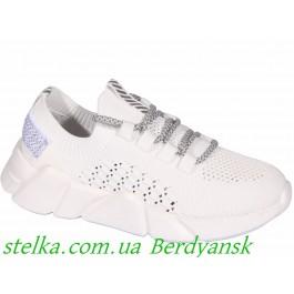 Белые текстильные кроссовки (сетка), обувь Weestep, 6801-1