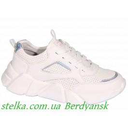 Белые кроссовки с перфорацией, обувь ТМ Weestep, 6795-1