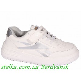 Детские белые кроссовки для девочки, Weestep, 6804-1